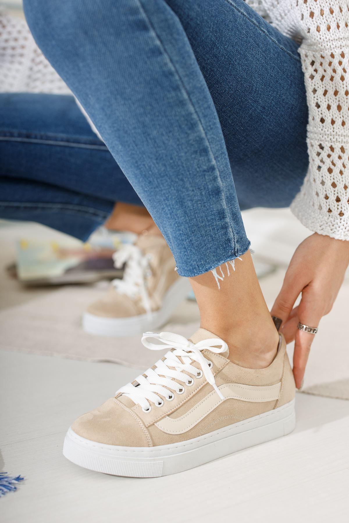 Bej Günlük Spor Ayakkabı