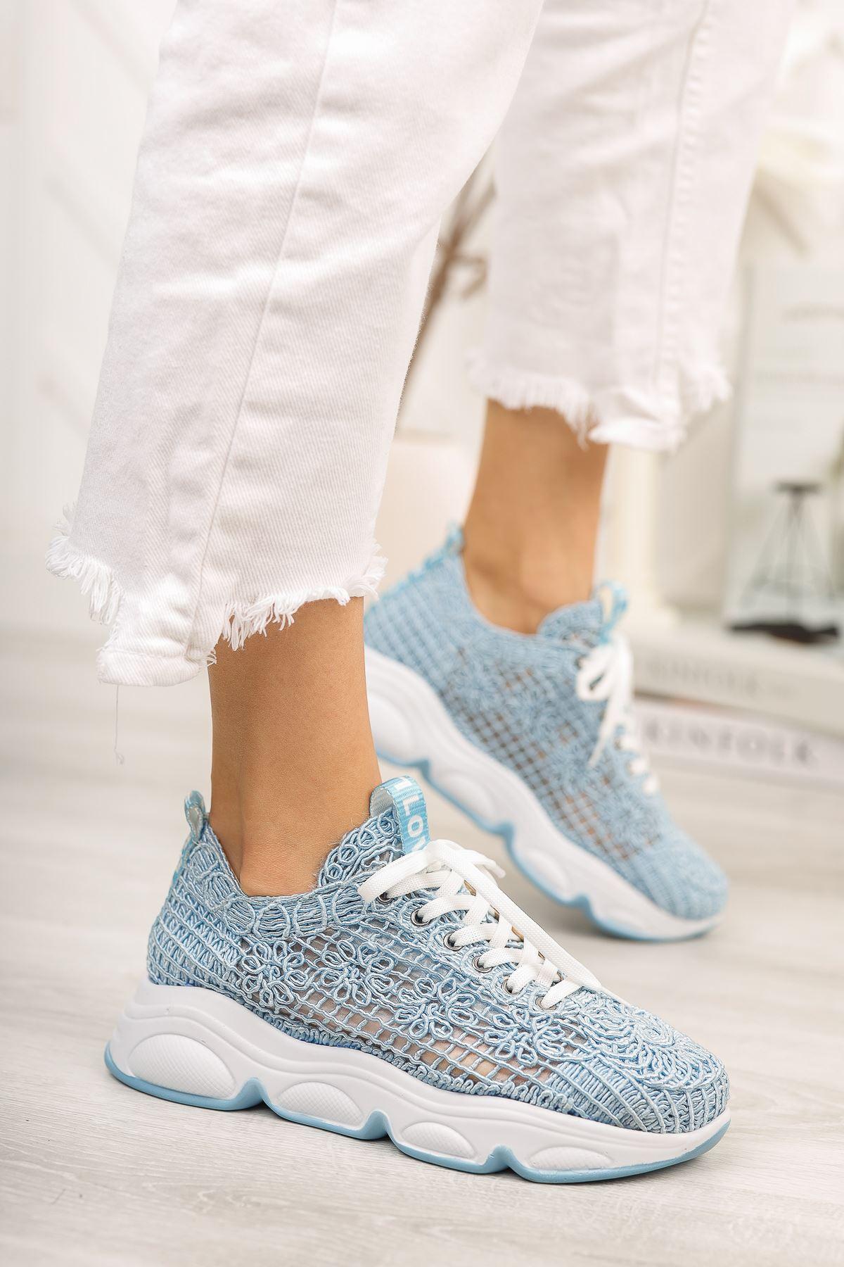 Bebe Mavi El Örgüsü Günlük Spor Ayakkabı